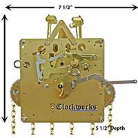 1151 series Hermle clock movements