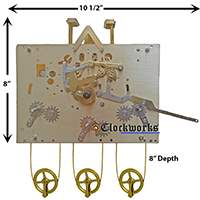 Hermle Clock Movement 1161 series