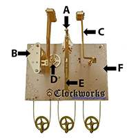 Hermle Clock Parts 1161 front diagram