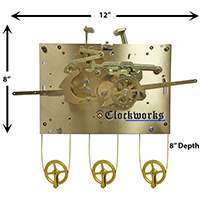 1171 series Hermle clock movements