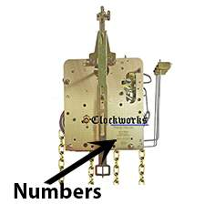241 series Hermle clock movements