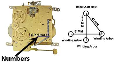 340 341 Series Hermle Clock Movements Clockworks