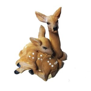 Deer Mother and Baby Figure for Cuckoo Clocks
