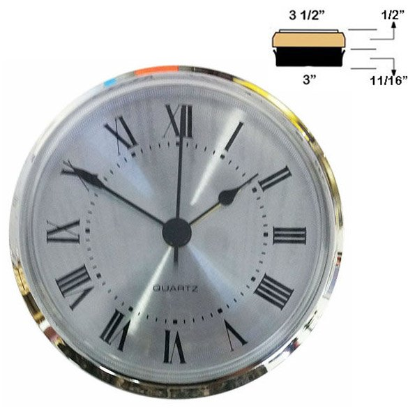 #F7A Clock Insert for a 3 in Hole