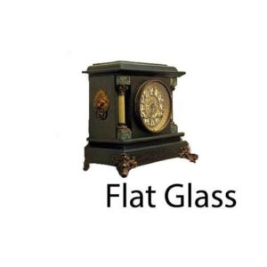 Flat Round Clock Glass