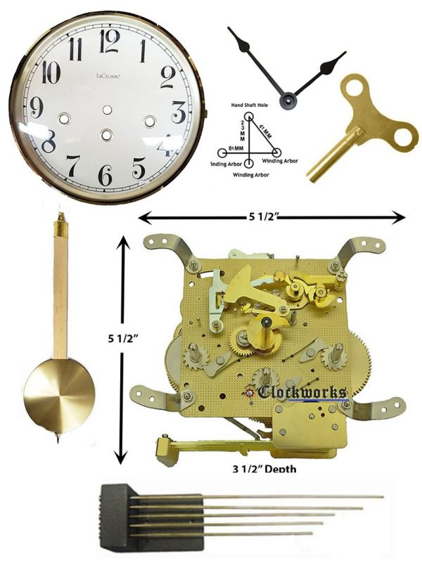 Mechanical Wall Clock Kit WMKIT24